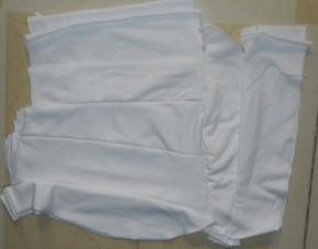 Vải lau công nghiệp may - trắng