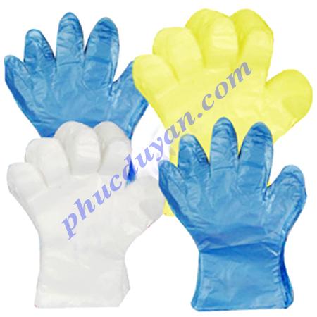 Găng tay nilon màu