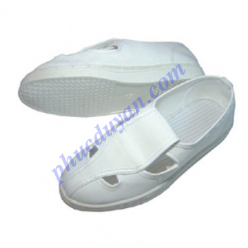 Giày chống tĩnh điện 4 lỗ - trắng